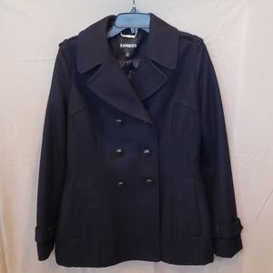 Express Navy Wool Pea Coat